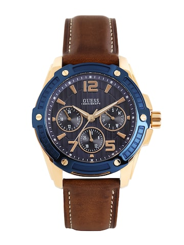 GUESS Men Navy Textured Dial Watch W0600G3 at myntra