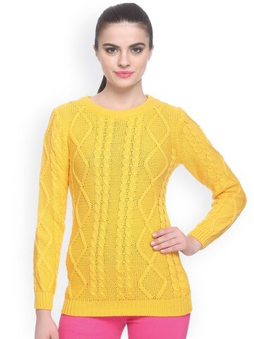 Miss Grace Yellow Sweater at myntra