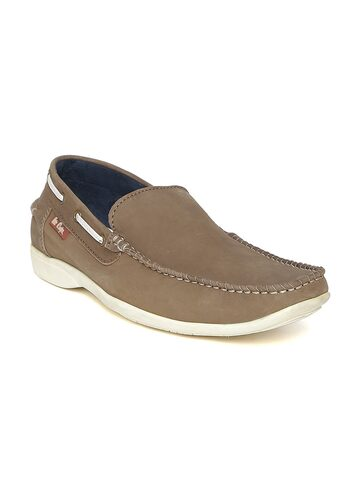 Lee Cooper Men Brown Leather Loafers at myntra