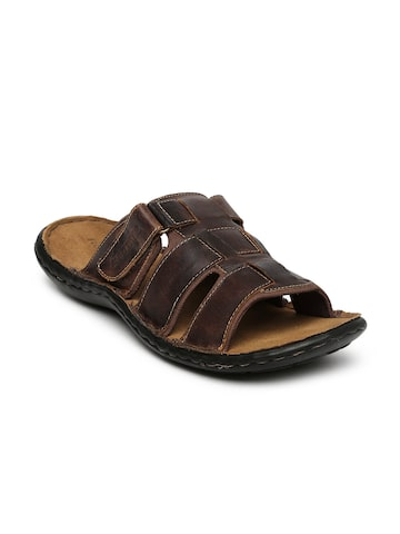 Red Tape Men Brown Leather Sandals at myntra
