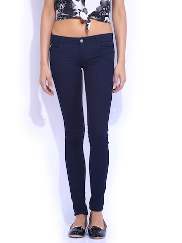 Kraus Jeans Navy Mid-Rise Skinny Fit K3006 Jeans at myntra