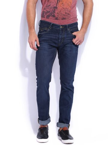 Flying Machine Blue Michael Slim Fit Jeans at myntra