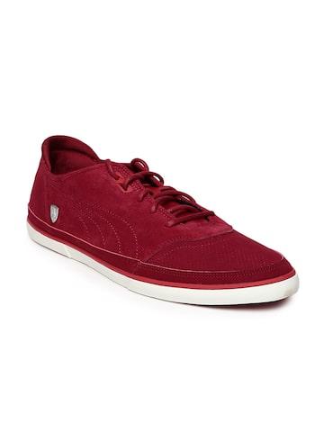 PUMA Men Maroon Suede Casual Shoes at myntra