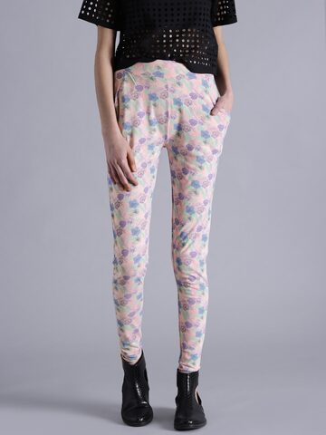 Kook N Keech Pink Printed Leggings at myntra