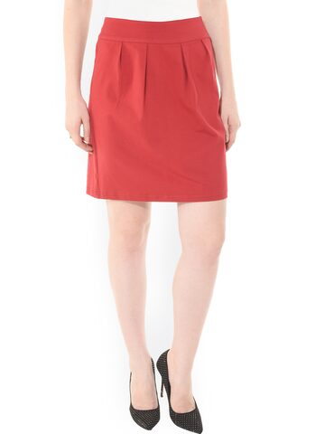 Besiva Maroon Pencil Skirt at myntra