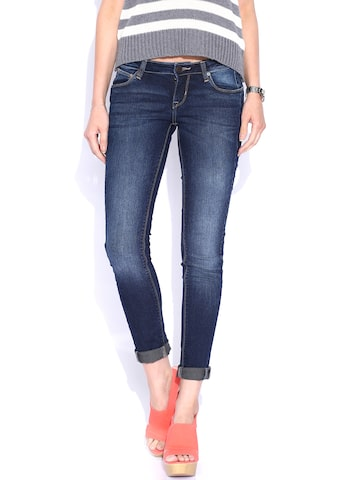 Lee Blue Maxi Ankle Fit Jeans at myntra