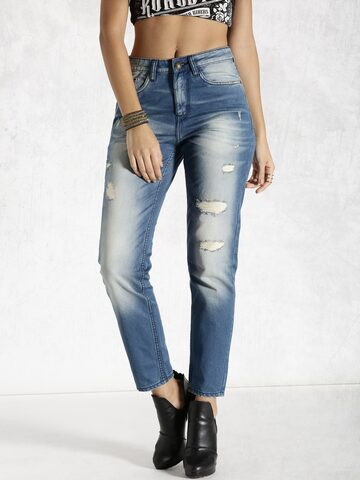 RDSTR Blue Boyfriend Fit Jeans at myntra