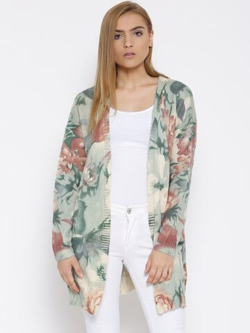 Vero Moda Multicoloured Printed Shrug at myntra