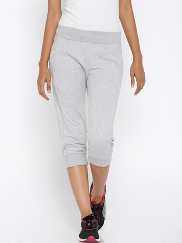 PUMA Grey Melange Capris at myntra