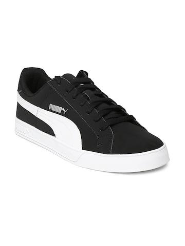 PUMA Unisex Black Smash Vulc Casual Shoes at myntra