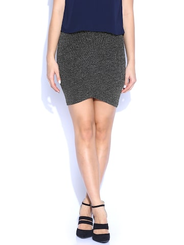 ONLY Black Pencil Skirt at myntra