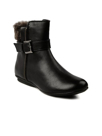 Bruno Manetti Women Black Boots at myntra