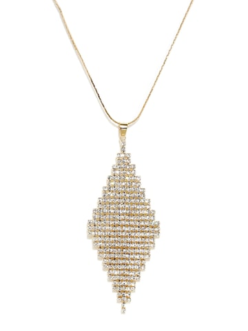 Ayesha Gold-Toned Embellished Necklace at myntra