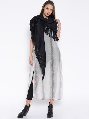 ONLY Grey Scarf at myntra