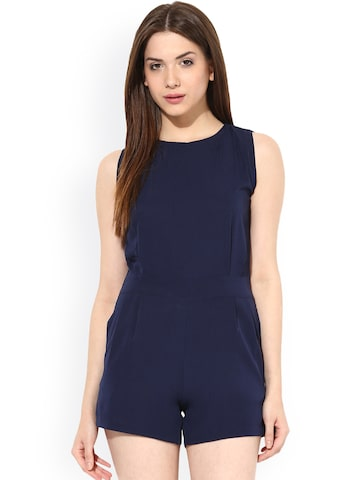 Miss Chase Navy Playsuit at myntra