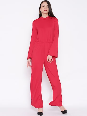 Vero Moda Red Cut-Out Back Jumpsuit at myntra