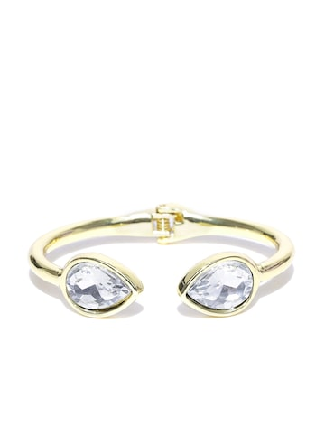 DressBerry Silver & Gold-Toned Hinged Bracelet at myntra