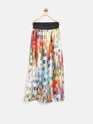 Tiny Girl Multicoloured Printed Side-Slit Maxi Skirt at myntra