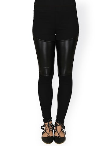 20Dresses Women Black Skinny Fit Jeggings at myntra