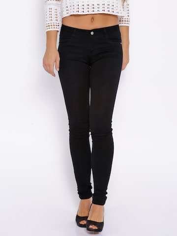 Kraus Jeans Black Tummy Tucker Fit K3060 Jeggings at myntra
