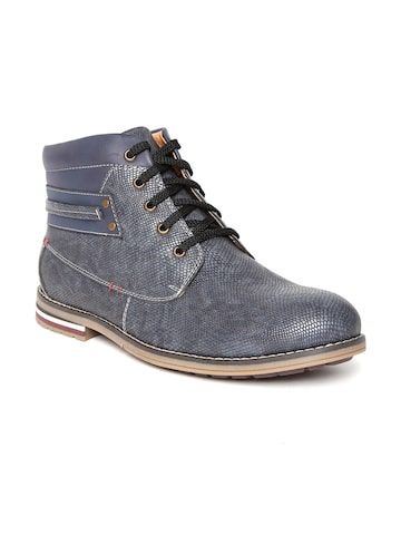 San Frissco Men Blue Textured Casual Shoes at myntra