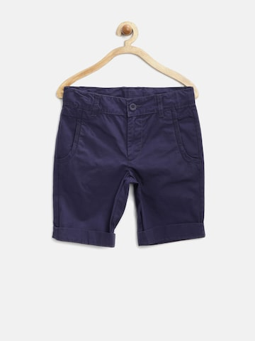 United Colors of Benetton Boys Navy Shorts at myntra