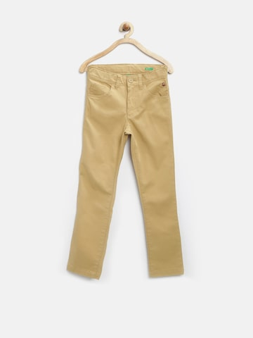 United Colors of Benetton Boys Khaki Trousers at myntra
