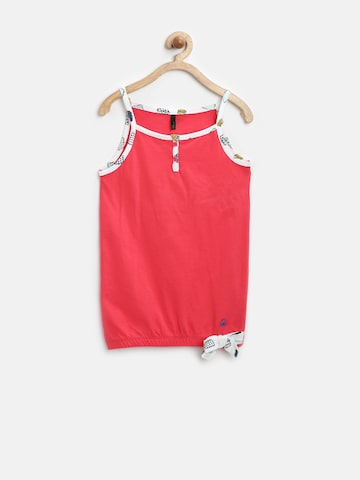 United Colors of Benetton Girls Red Spaghetti Top at myntra