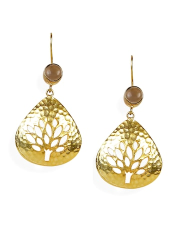 Blueberry Gold-Toned Drop Earrings at myntra