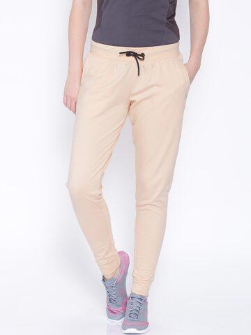 FILA Peach-Coloured Track Pants at myntra