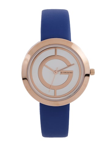 GIORDANO Women Silver-Toned Dial Watch A2042-07 at myntra