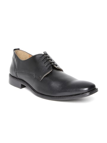Knotty Derby by Arden Men Black Formal Shoes at myntra