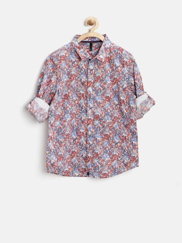 United Colors of Benetton Boys Multicoloured Colour Blotch Shirt at myntra
