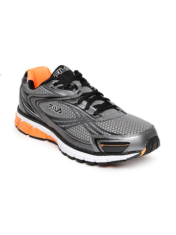 FILA Men Charcoal Grey Nitro Fuel Running Shoes at myntra