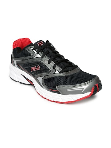 FILA Men Black & Grey Xtent 4 Running Shoes at myntra