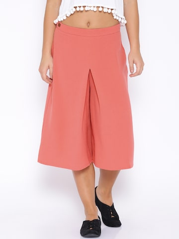 ONLY Coral Pink Culottes at myntra