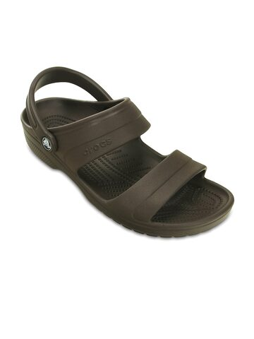 Crocs Men Brown Flip Flops at myntra