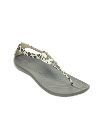 Crocs Women Grey Printed Flip Flops at myntra