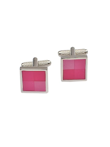 Alvaro Castagnino Pink & Silver-Toned Cufflinks at myntra