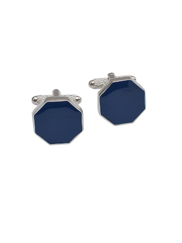 Alvaro Castagnino Silver-Toned & Blue Cufflinks at myntra