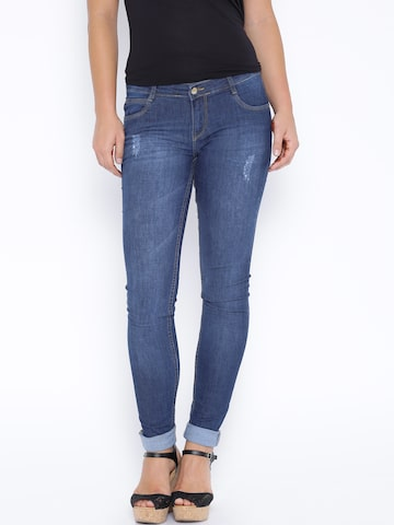 Kraus Jeans Blue Mid-Rise Skinny Fit K3006 Jeans at myntra