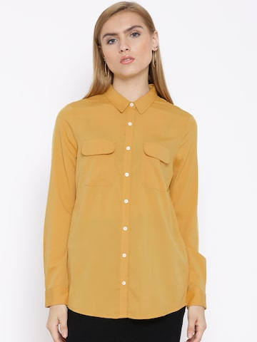 United Colors of Benetton Mustard Yellow Shirt at myntra