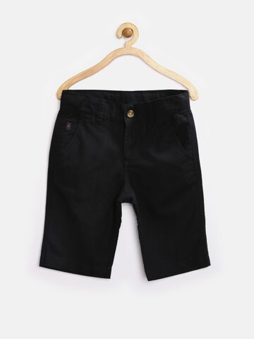 United Colors of Benetton Boys Black Shorts at myntra