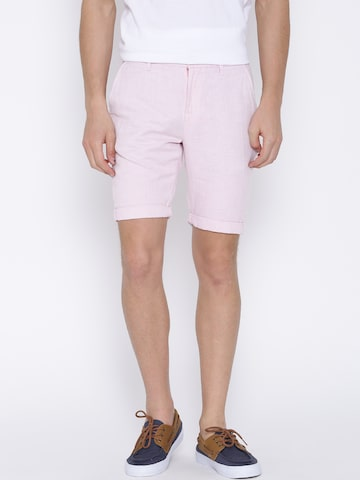 United Colors of Benetton Pink Slim Shorts at myntra
