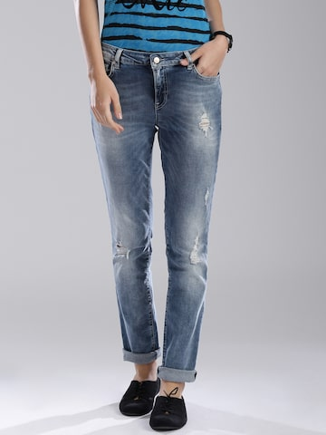 GAS Blue Skinny Fit Jeans at myntra