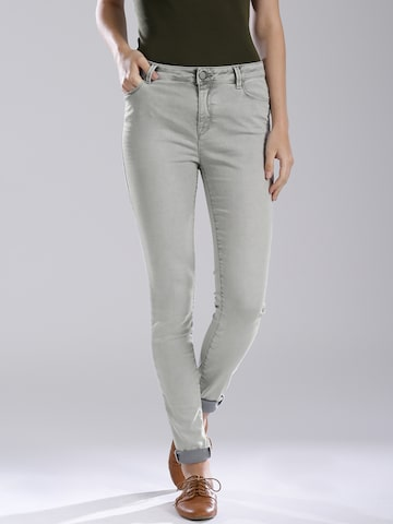 GAS Grey Body Fit Jeans at myntra