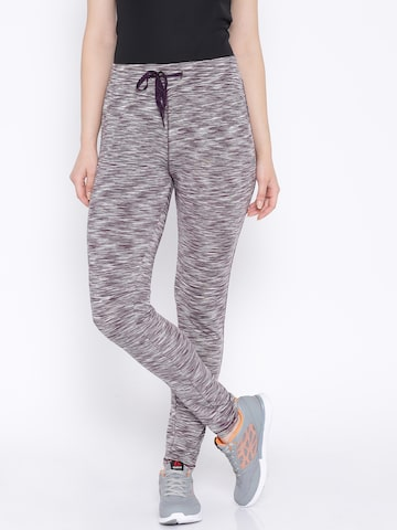 Proline Active Purple Melange Track Pants at myntra