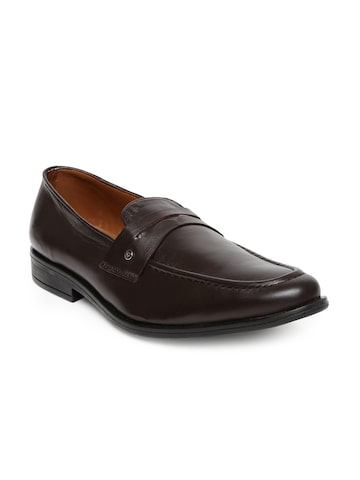 INVICTUS Men Dark Brown Slip-On Formal Shoes at myntra