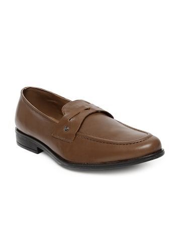 INVICTUS Men Tan Brown Slip-On Formal Shoes at myntra