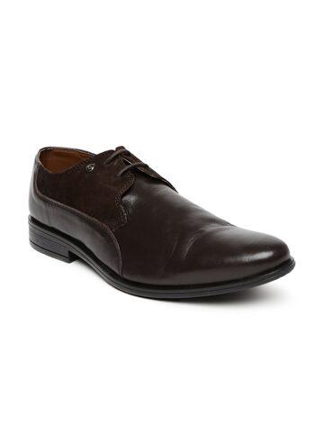 INVICTUS Men Dark Brown Derby Formal Shoes at myntra